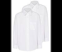 Школьная рубашка белая с длинным рукавом на мальчика Easy to Iron  George (Англия)