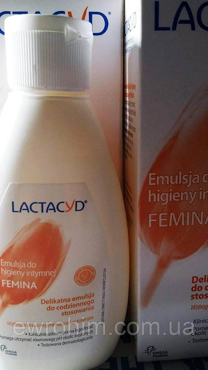 Средство для интимной гигиены Lactacyd femina (без дозатора), 200 мл