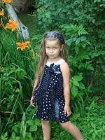 """Платье красивое  в горох """"Николь"""" прокат Киев, фото 1"""