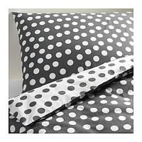 """IKEA """"СТЕНКЛЁВЕР""""  Комлект постельного белья, белый/серый, 160x200/70x80 см"""