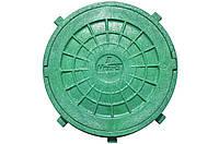 Люк смотровой (зеленый) 1,5т с замком - Мпласт