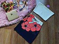 Костюм (топ+ юбка) цветы