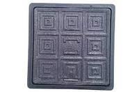 Люк Квадратный 300х300 (черный) - Мпласт