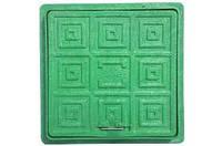 Люк Квадратный 300х300 (зеленый) - Мпласт