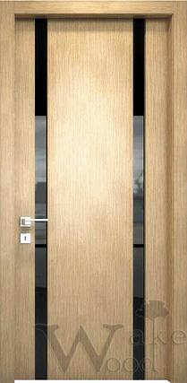 """Межкомнатные двери """"WakeWood"""" Glass (две полосы), фото 2"""