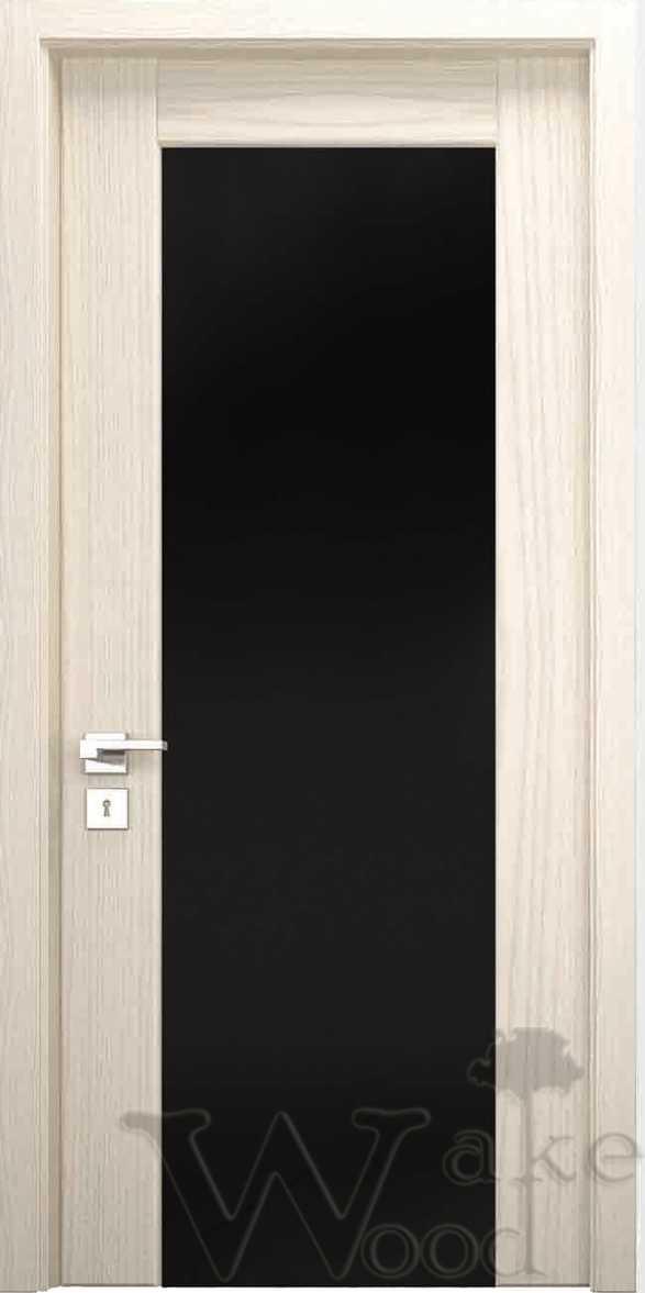 """Межкомнатные двери """"WakeWood"""" Glass 04 (широкая полоса с перемычкой)"""
