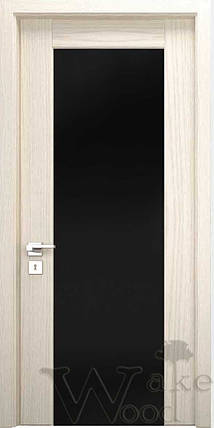 """Межкомнатные двери """"WakeWood"""" Glass 04 (широкая полоса с перемычкой), фото 2"""