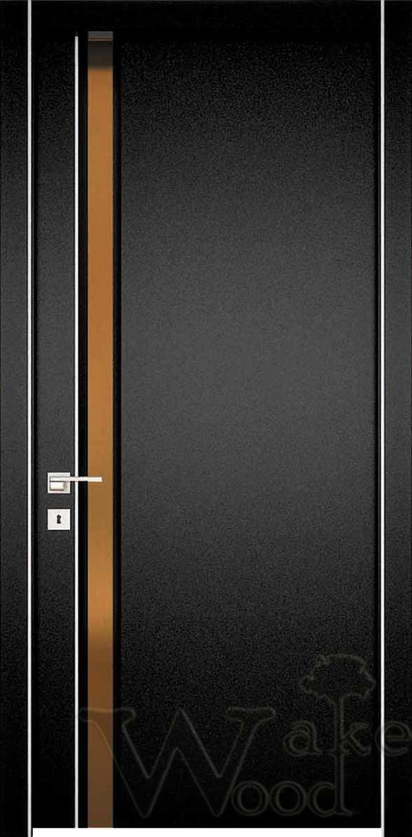 """Межкомнатные двери """"WakeWood"""" Glass plus (одна полоса напросвет)"""