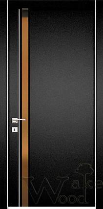 """Межкомнатные двери """"WakeWood"""" Glass plus (одна полоса напросвет), фото 2"""