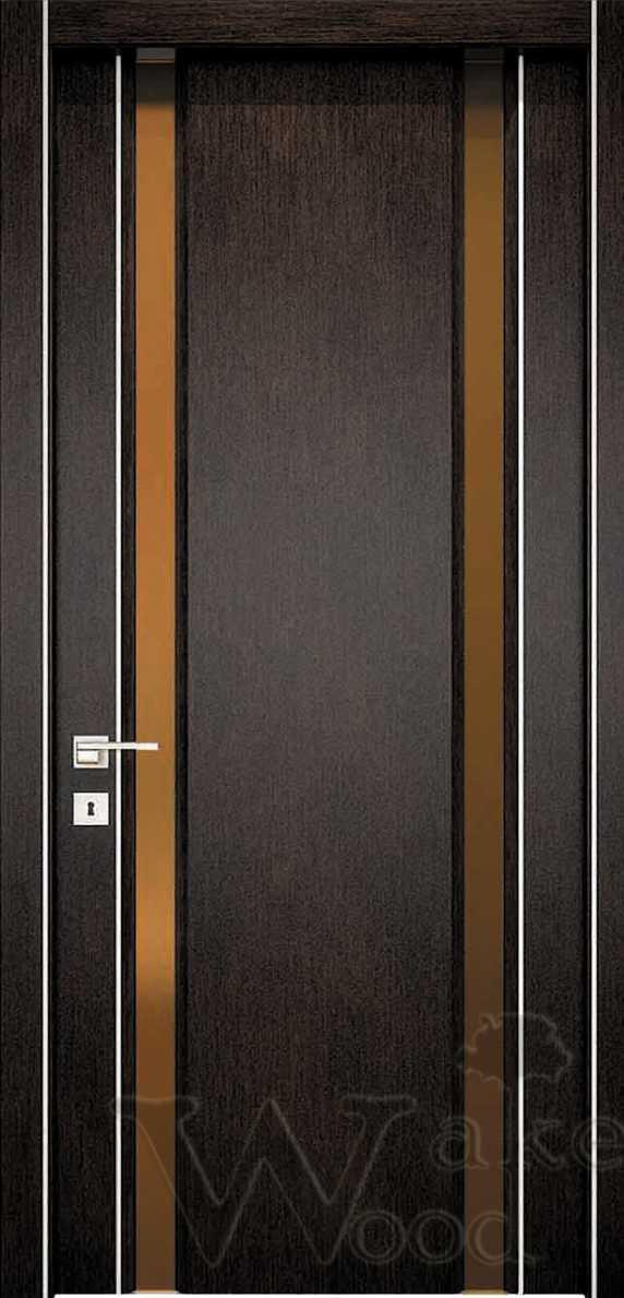 """Межкомнатные двери """"WakeWood"""" Glass plus (две полосы напросвет)"""