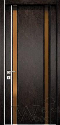 """Межкомнатные двери """"WakeWood"""" Glass plus (две полосы напросвет), фото 2"""
