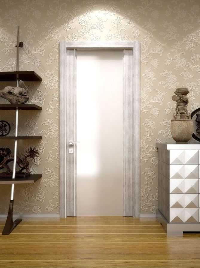 """Межкомнатные двери """"WakeWood"""" Glass plus (широкая полоса напросвет)"""
