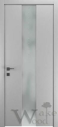 "Межкомнатные двери ""WakeWood"" Deluxe 02 (стекл. полоса по центру с кристал. Swarovski), фото 2"
