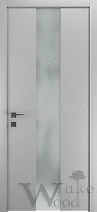 "Межкомнатные двери ""WakeWood"" Deluxe 02 (стекл. полоса по центру с кристал. Swarovski)"