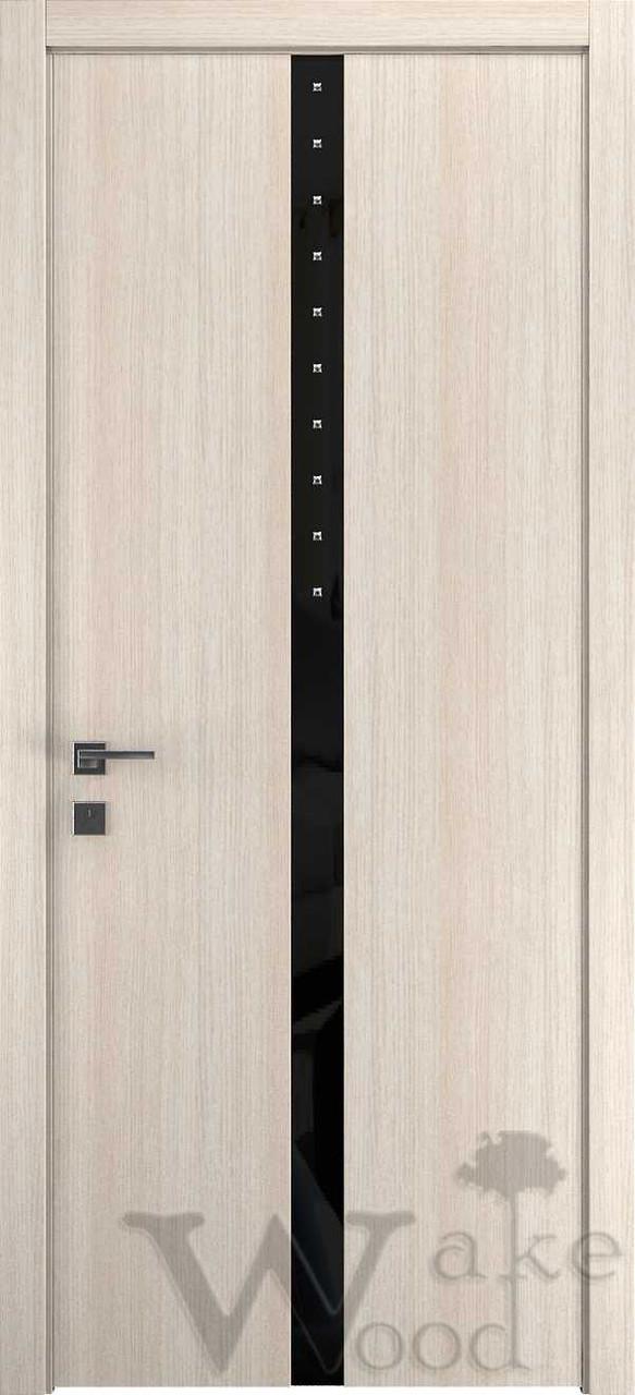"Межкомнатные двери ""WakeWood"" Deluxe 01 (стекл. полоса по центру с кристал. Swarovski)"