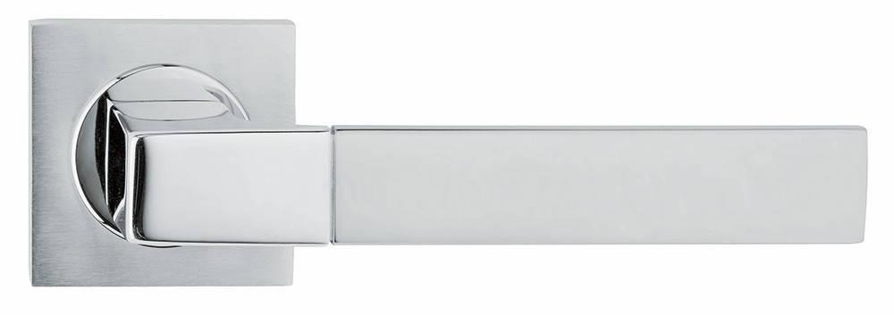 Ручка дверная Linea Cali Thais на 019 розетке, матовый хром/хром, фото 2