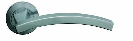 Ручка дверная Linea Cali Profilo на 102 металлической розетке, хром матовый, фото 2