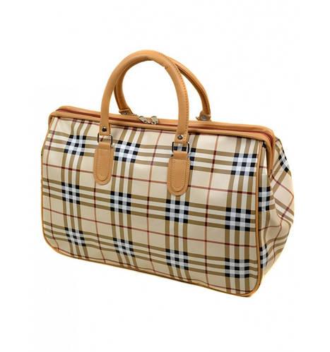 Дорожная сумка-саквояж из искусственной кожи, 318-3, разноцветный