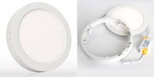 Круглый накладной 12W-2700K точечный LED светильник Down Light Plastic
