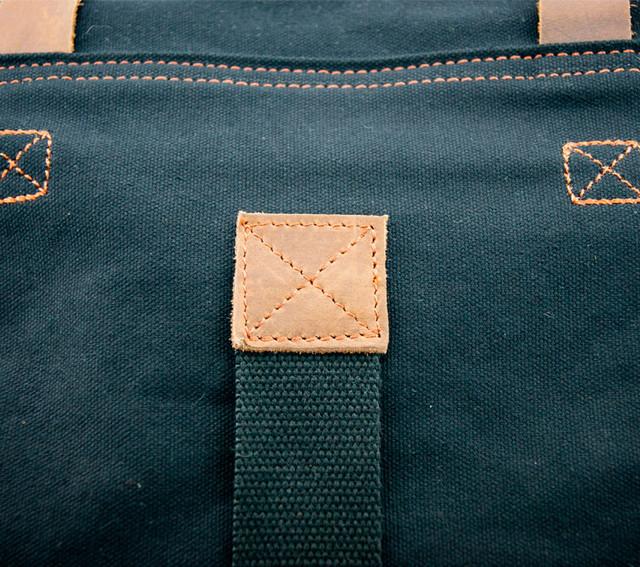 Мужская сумка Augur | черная. Кожаные элементы.