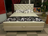 """Двоспальні ліжка ЛАГУНА з матрацом і ящиком для білизни, """"Ромби""""№5 двоспальне"""