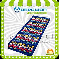 Массажный коврик с цветными камнями 100х40 см, фото 1