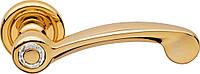 Ручка дверная Linea Cali Cosmic на 103 металлической розетке, полированное золото
