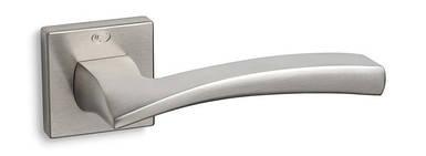 Ручка дверная CONVEX 1145 на квадратной розетке, матовый никель