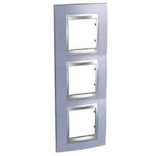 Рамка 3 пост. вертикальная Unica Top берилл/алюминий MGU66.006V.098