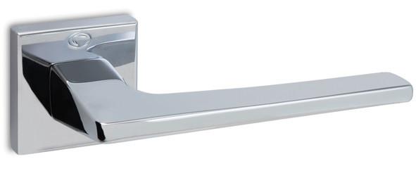 Ручка дверная CONVEX 1495 на квадр розетке, хром полированный