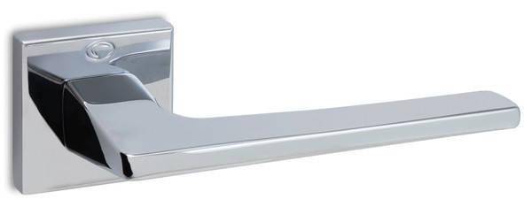 Ручка дверная CONVEX 1495 на квадр розетке, хром полированный, фото 2