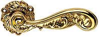 Ручка дверная Linea Cali Rococo на 078 металлической розетке, золото полированное