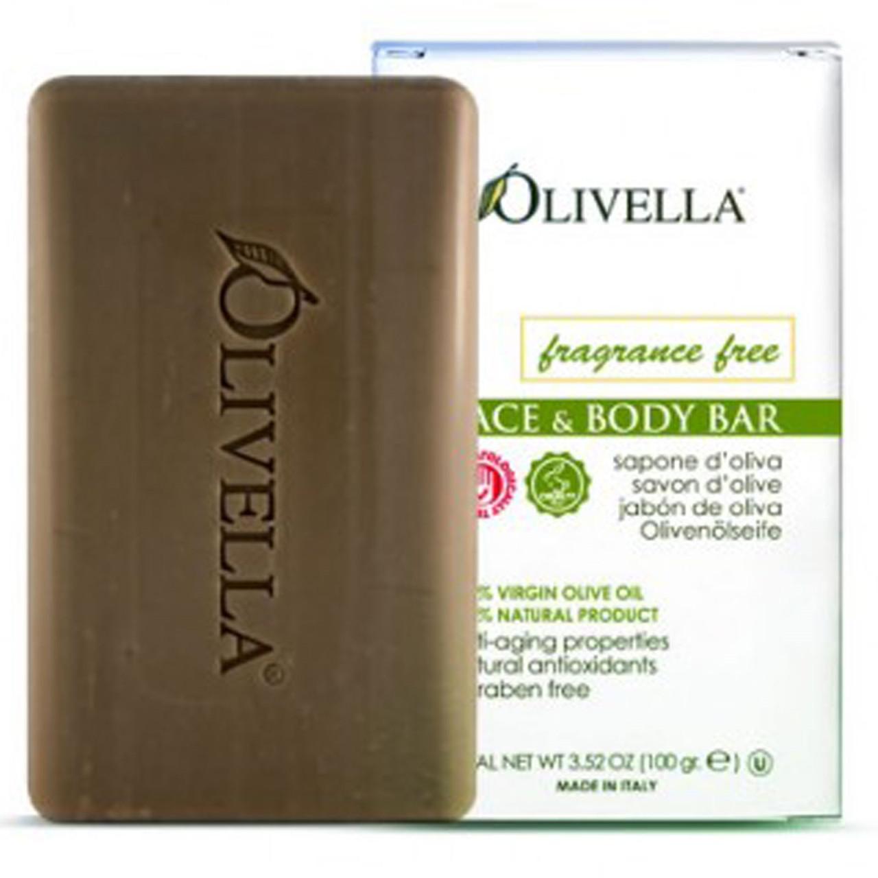 Olivella, Неароматизированное оливковое мыло 100 г. Сделано в Италии.