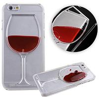 "Прозрачный чехол""Бокал вина"" для iPhone 6/6S"