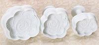 Набор кондитерских плунжеров «Розы 3 шт.»