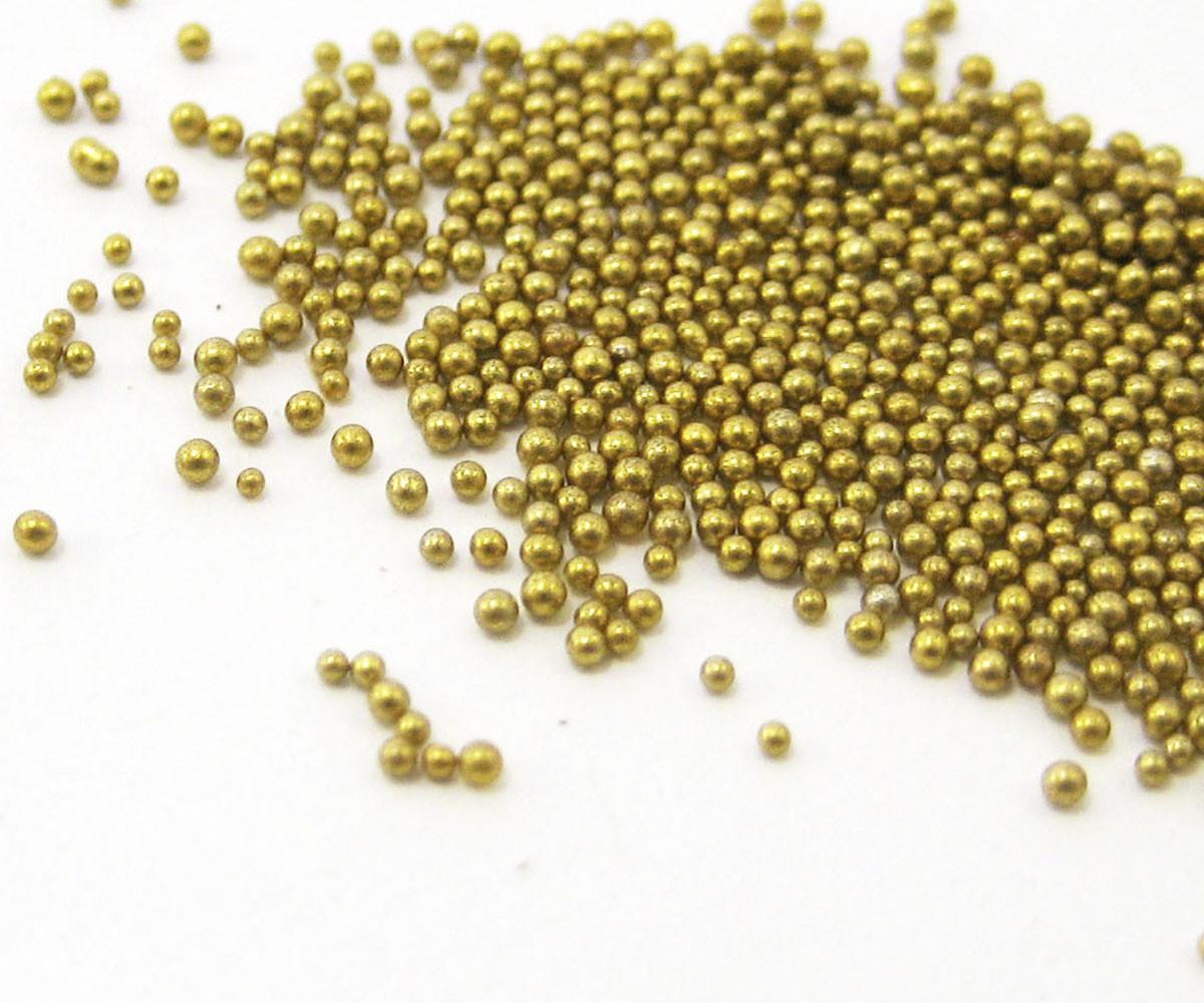 Микробисер золотой (Без отверстия)110г