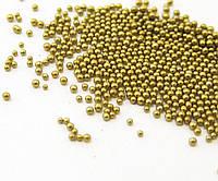 Микробисер золотой (Без отверстия)110г, фото 1
