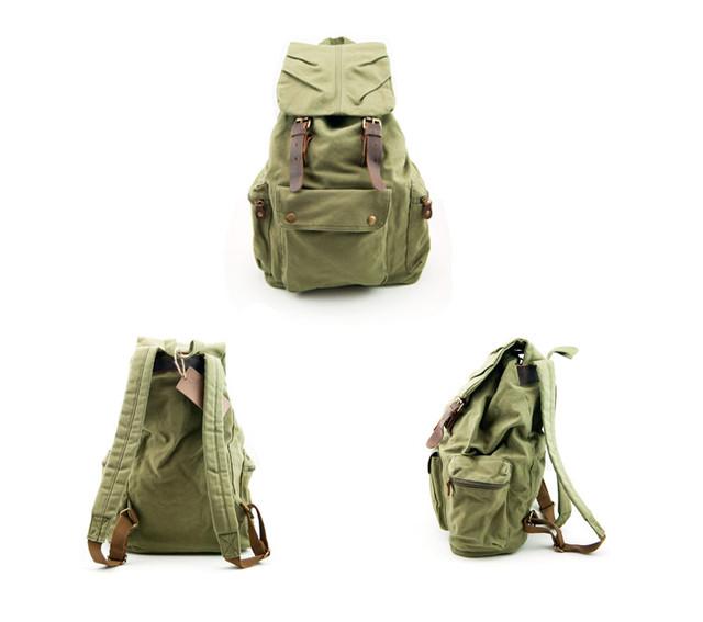 Городской рюкзак Sccotton | зеленый. Вид спереди, сбоку и сзади.