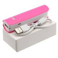 Power Bank для смартфона 2600 mAh Pink