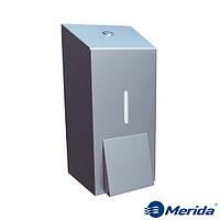 Дозатор жидкого мыла из матовой нержавейки 400 мл. Merida Stella Mini, Польша