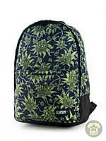 Рюкзак, наплечник 25 Л ( унисекс ) ( с отделением для ноутбука ) Urban Planet - Weed BLK ( чёрный / зелёный )