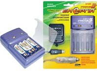 Зарядное устройство для аккумуляторов Энергия Премиум II ЕН-909 + USB, для аккумуляторных батареек