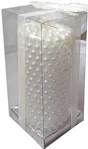 Свеча Бусы Белая, 13 см, диаметр - 6 см