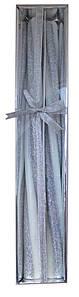 Свечи Спираль длинные Серебро, 40 см, диаметр - 3 см
