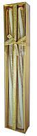 Свеча Спираль длинная Золото, 40 см, диаметр - 3 см