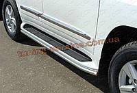 Защита штатного порога D48 на Lexus LX-570