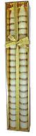 Свечи Сосулька Золото, 50 см, диаметр - 3 см