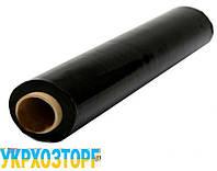 Пленка черная полиэтиленовая 130 мкм (для мульчирования,строительная)  3 м рукав 6 м в развароте