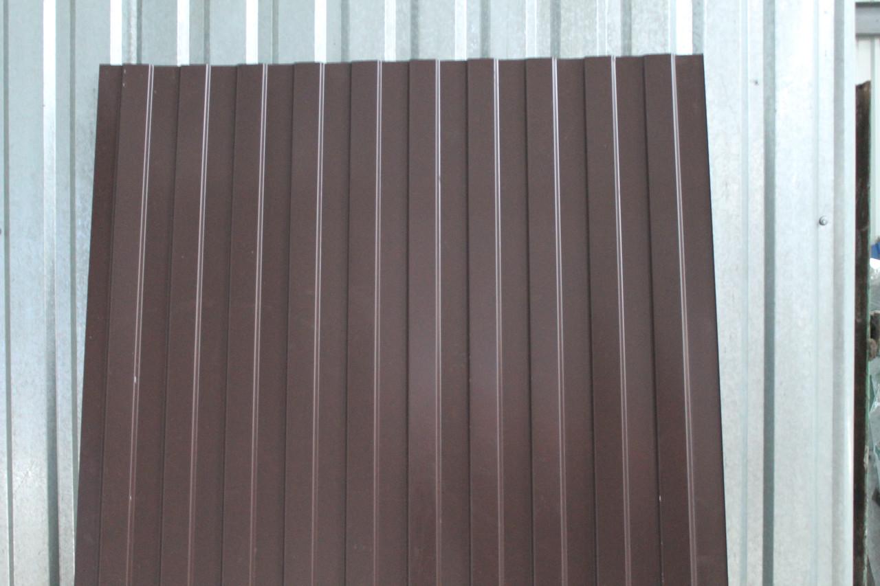 Профнастил с-10 8017 коричневый толщина 0,35