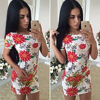 Женское модное красивое платье в цветочек